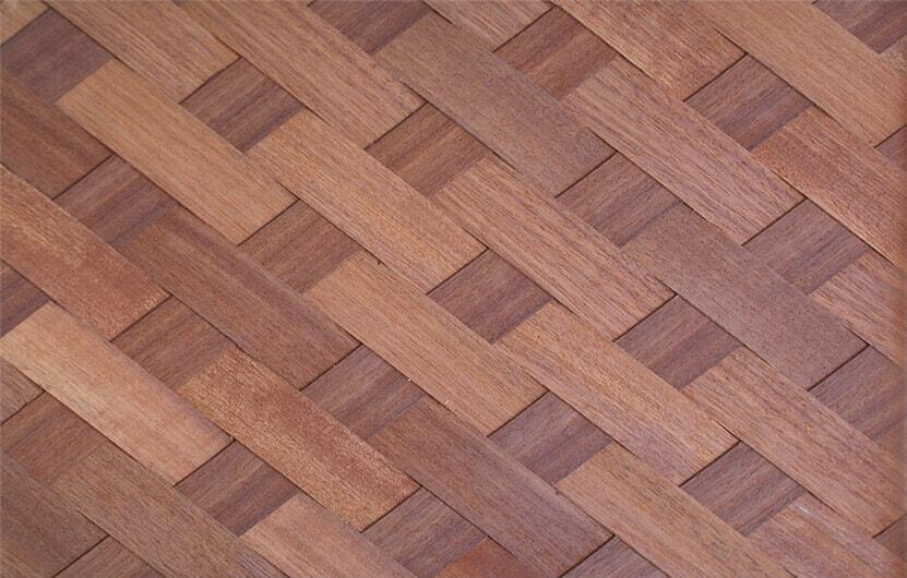 weave wood veneer