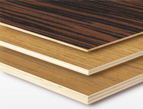 veneer faced plywood