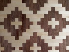 Chapas de madera Tejida